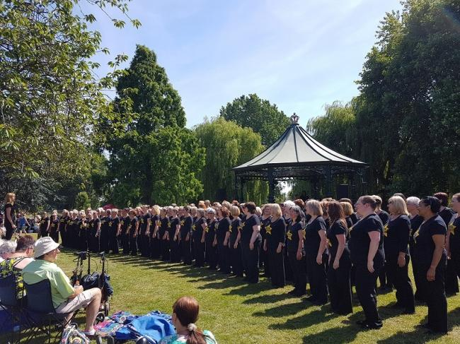 Choirs will be taking over the park this weekend