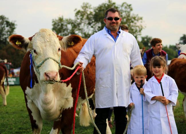 PICTURE: The Shaw family are the stars of this year's Moreton Show poster Picture: Francesca Carmine/Moreton Show.