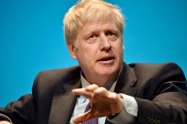 Boris Johnson during the first party hustings at the ICC in Birmingham (Ben Birchall/PA)