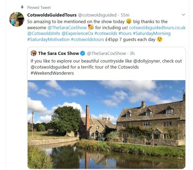Cotswolds Guided mentioned by Sara Cox