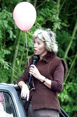 Julie Kirkbride, pictured during her time as Bromsgrove MP.