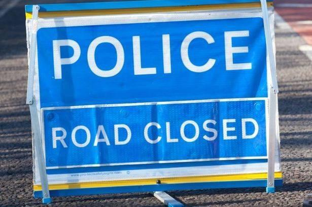 West Mercia Police said the A44 is closed between Kington and Leominster.