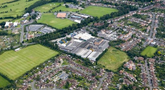 VIEW: The proposed location for the supermarket on two acres of land at DVM Castings on the Droitwich Road (credit: Ashfield Land)