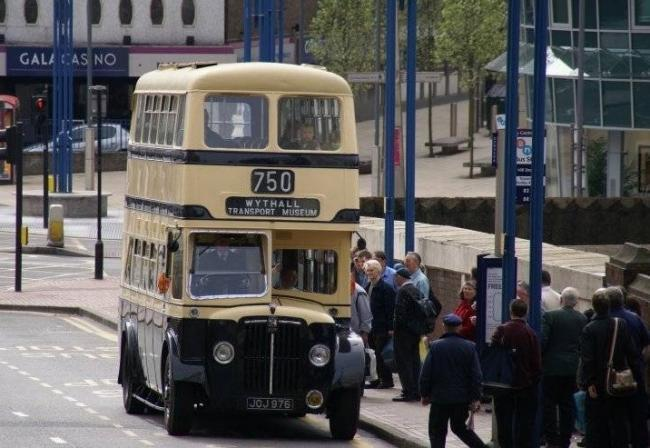 The 750 bus service picking up people in Birmingham