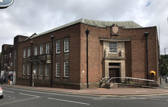 The former town centre police station on New Street.