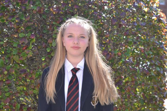Wolverley Secondary School student Gracie Rose is donating her hair to charity