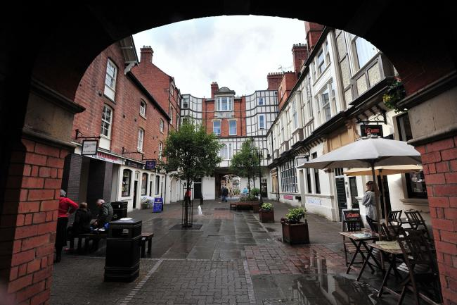 View of the Hopmarket Shops in Worcester City Centre. Pic Jonathan Barry 8.10.14  4114724509.