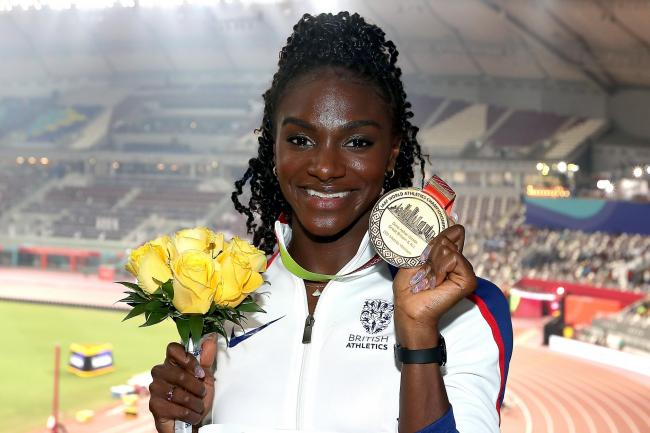 Dina Asher-Smith won three of Great Britain's five medals in Doha