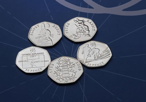 Bromsgrove Advertiser: The rarest 50p coins. Credit: Royal Mint/PA Wire