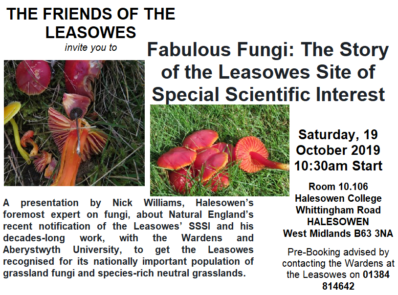 Fabulous Fungi: The Story of the Leasowes Site of  Special Scientific Interest