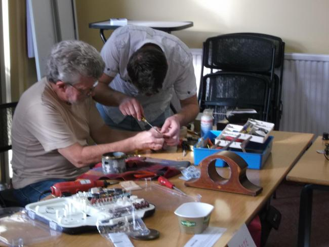 Fixing at Ludlow Repair Cafe.