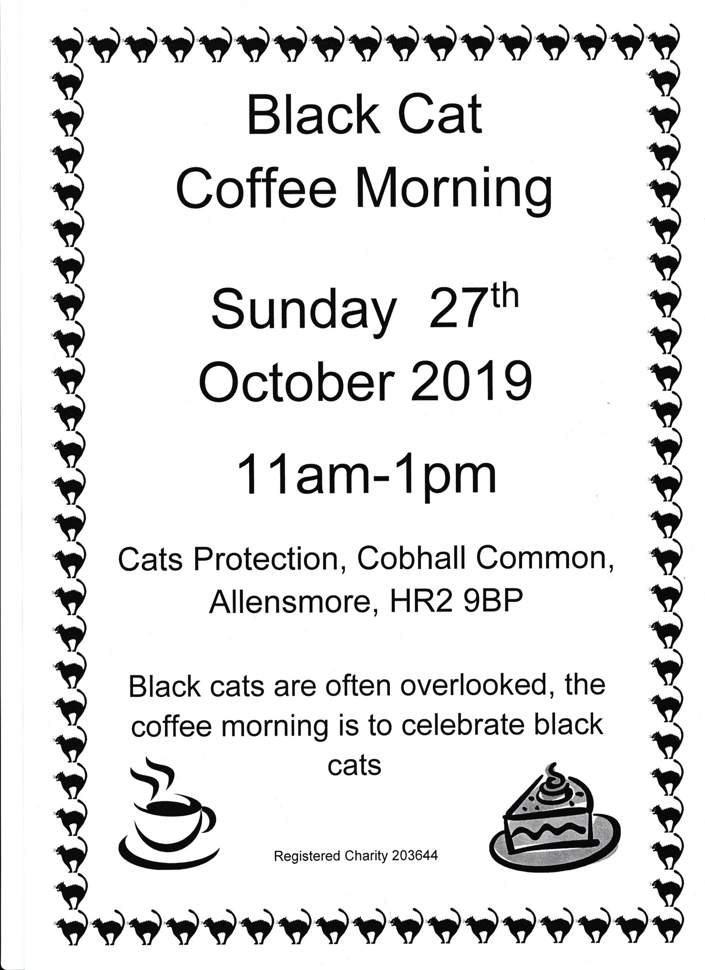 Black Cat Coffee Morning