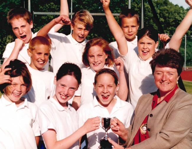 NOSTALGIA: Today's nostalgia photo from the Worcester News archive comes from 1998 and shows Kirsty Hanley, Sarah Page, Lorna Robinson, Darren Williams, Harry Penwarden, Clair Large, Daniel Geisler and Rachael Tyler with deputy mayor Jo Hodges