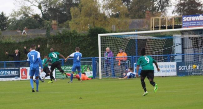 Greg Mills scores against Leiston