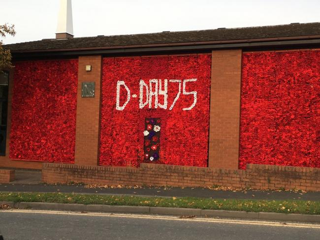 It took more than 18,000 poppies to create the Remembrance Day tribute that adorns the exterior of Bromsgrove Methodist Church.