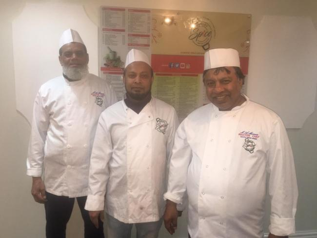 The chefs at Dudley Spice (left to right) Muhammed Ali, Muhammed Maunan and Muhammed Mannan
