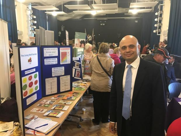 Sajid Javid at a past edition of the Pensioners' Fair.