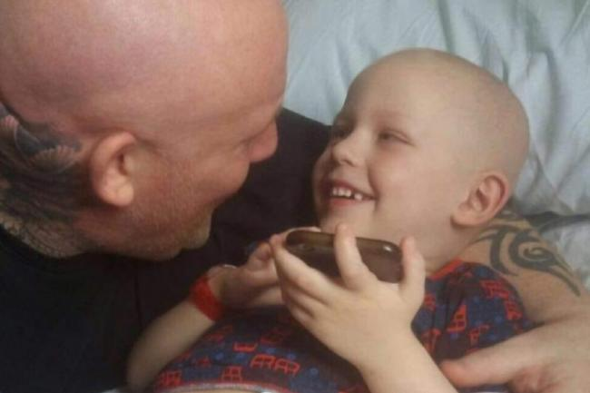 LOVED: Lukas Duberley, 6, with dad Marc