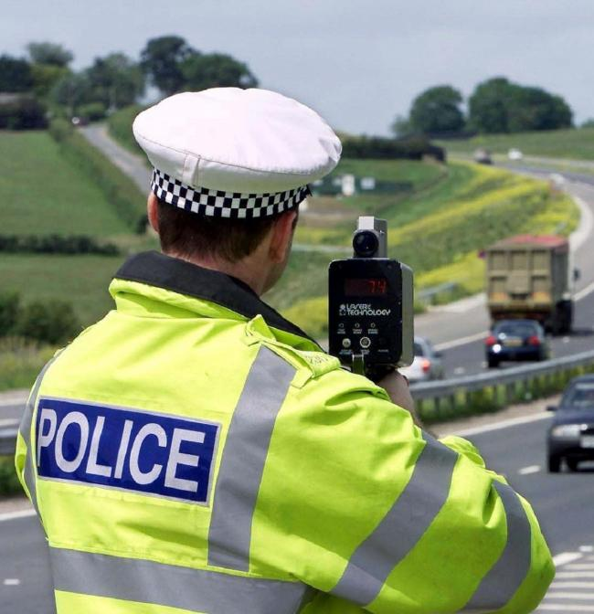 Library picture of Police traffic speed gun.