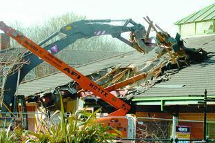 Bromsgrove's Market Hall was demolished several years ago.