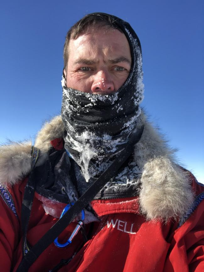 Stunning and brutal: Dean at the South Pole