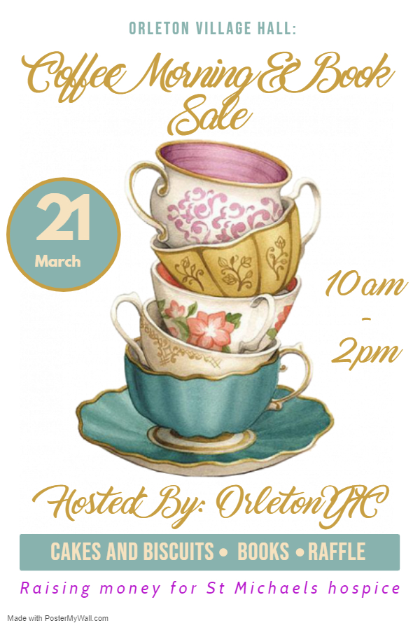 Orleton YFC Coffee Morning and Book Sale