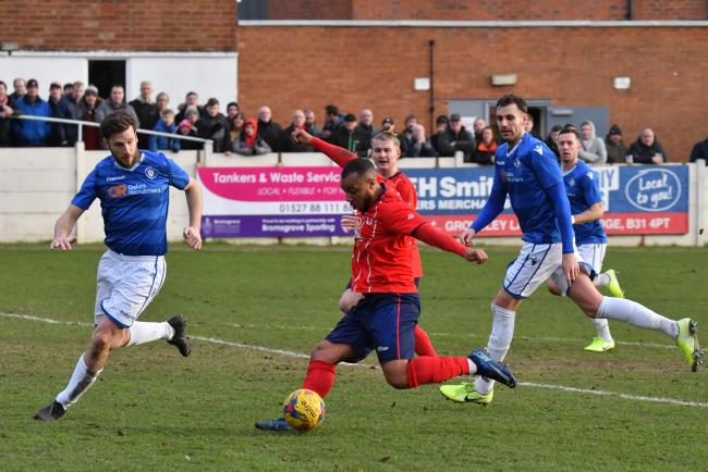 Sporting's Gregg Mills in recent action against Lowestoft. Pic: Van Greaves