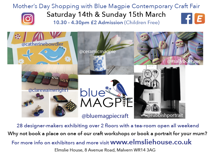 Mother's Day Shopping with Blue Magpie Contemporary Craft Fair