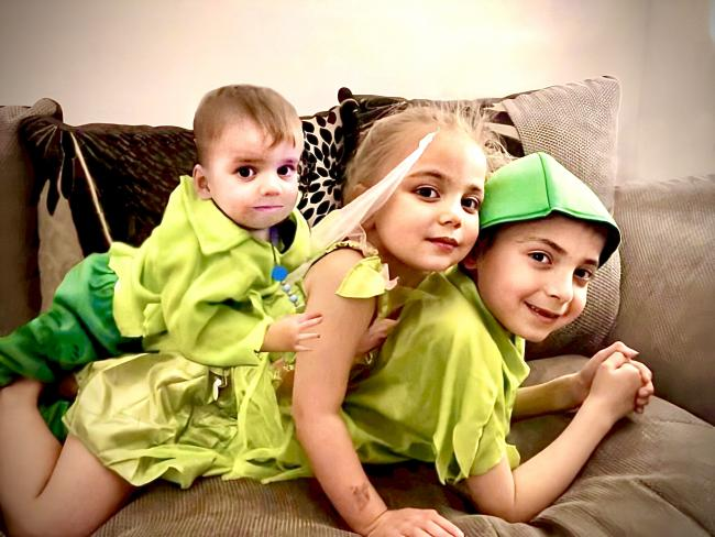 Ash 8 jasmine 4 zayn 1 as Peter Pan and tinkerbell