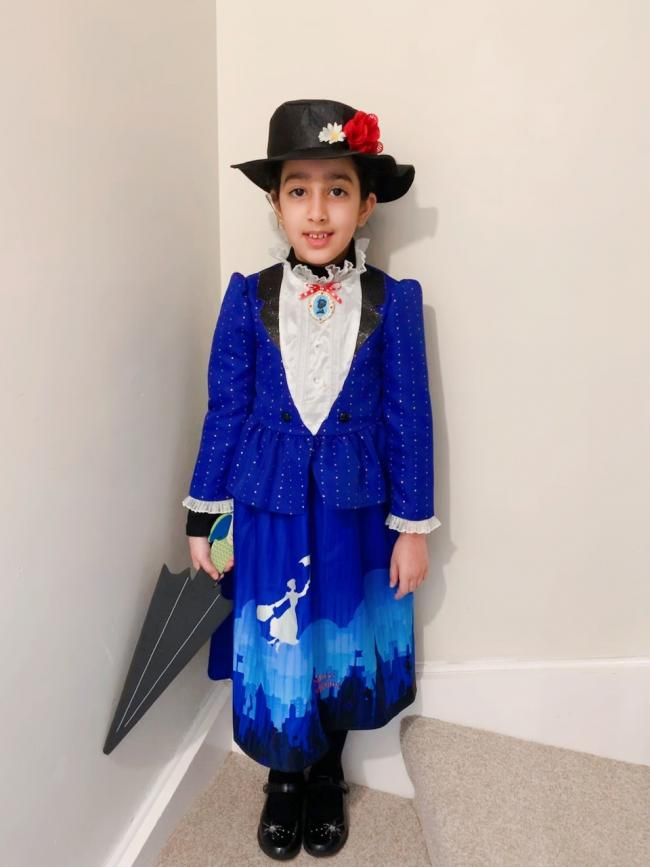 Anaya Akbar, aged 9 as Mary Poppins