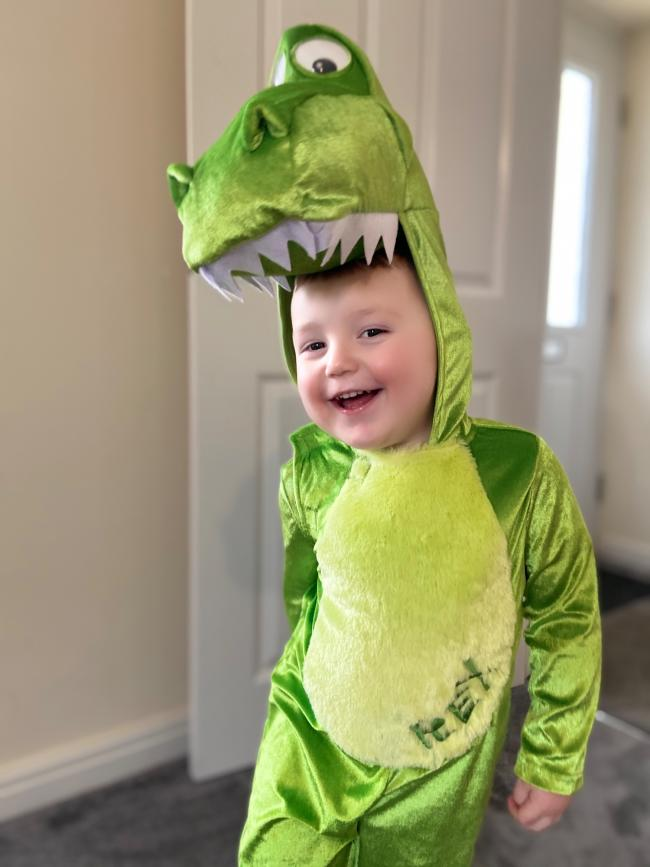Miller age 2 being rex from toy story for world book day 2020