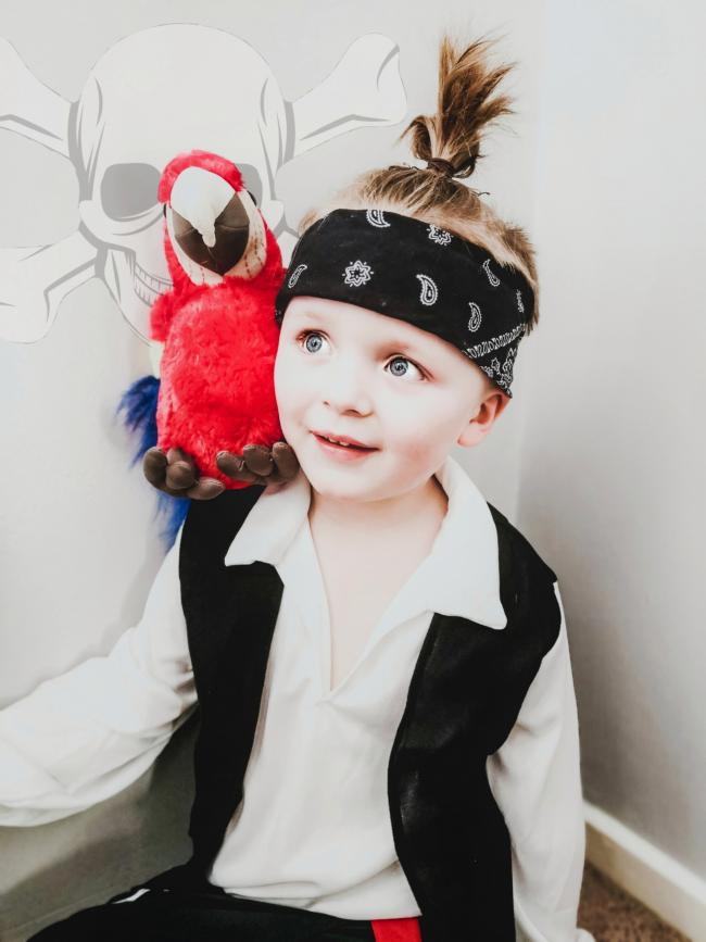 Fletcher aged 5 as a pirate