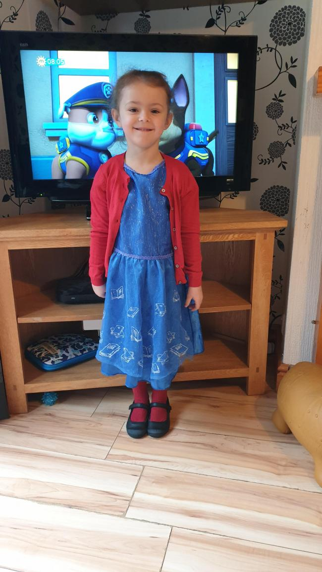 Lacey-Marie Age 5 Bewdley Primary School  Dressed as Matilda