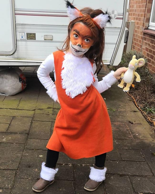 Ivy, aged 5, Franche primary school as Fox from the Gruffalo.
