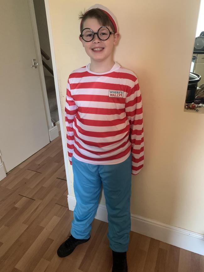 "This is Harry Hathaway aged 9 of St Bartholomews Church of England Primary Academy, Dressed as ""Wheres Wally"" :-)"