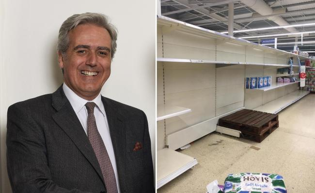 Wyre Forest MP Mark Garnier says the behaviour of supermarket stockpilers is