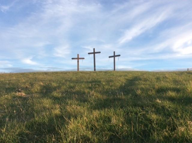 Crosses on a hilltop in Mappleborough Green near Studley