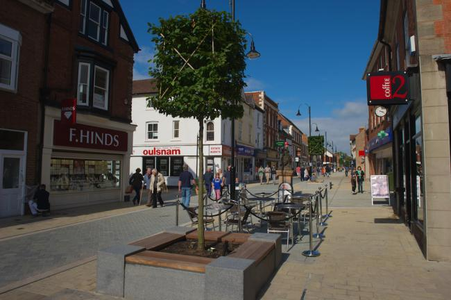 Bromsgrove High Street - a £40,000 grant has been awarded to the council to revamp the town centre.