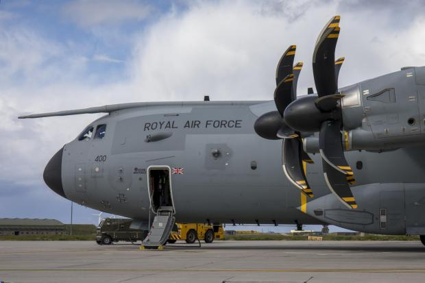 Bromsgrove Advertiser: This is an Airbus A400M Atlas, the type of airfact seen over Glasgow in recent weeks (Image: RAF)