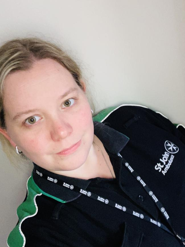 Katie Sparrow, works for Black Country Healthcare NHS FT and Volunteers for St John Ambulance