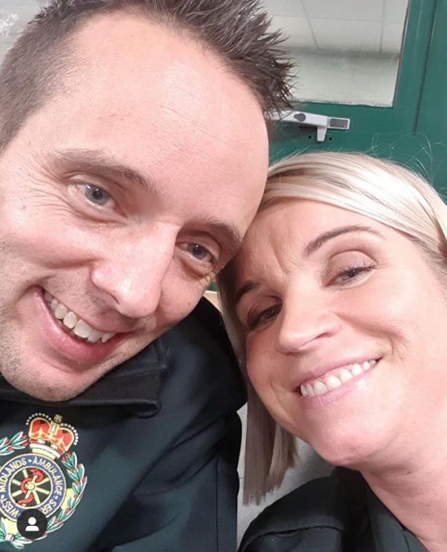 Key workers, husband and wife Caroline and Craig Chalmers. Craig is a paramedic and Caroline is an ambulance dispatcher. They do all this whilst raising four children. It is also their 10th wedding anniversary on Friday 22nd May. We think they are amazing!