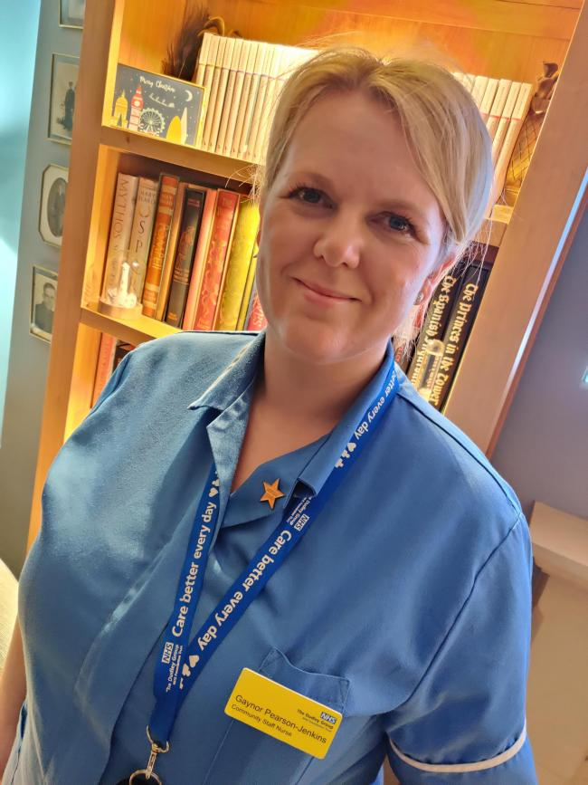 Gaynor Pearson-Jenkins - Community Staff Nurse - Nights. Caring for patients in their own homes, often those in the last hours of their lives.