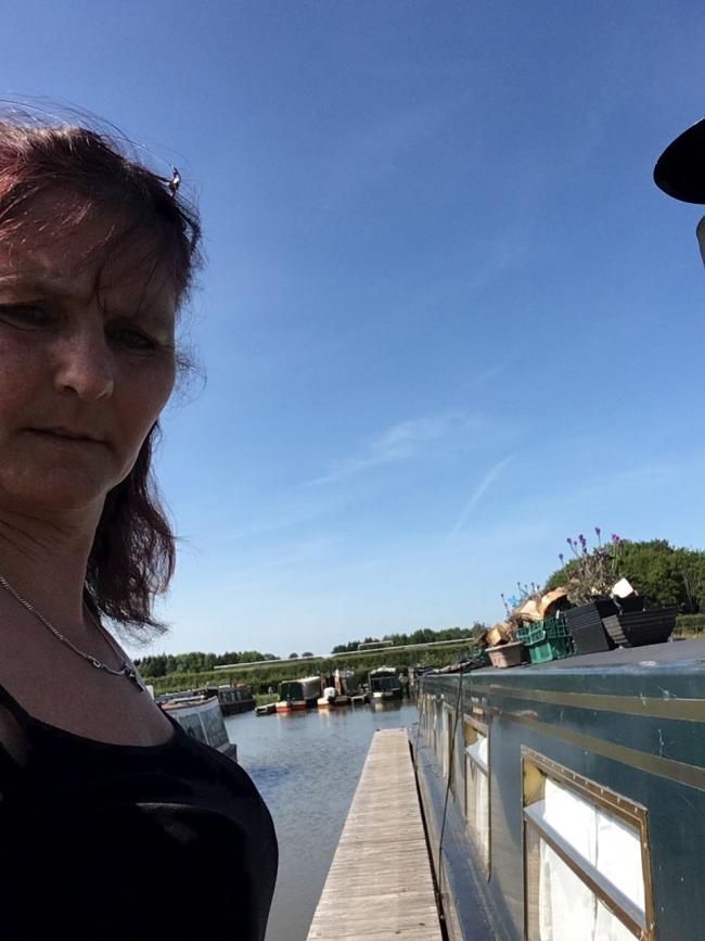 CONCERN: Sandra Burgess by her narrowboat, 'Only Me'.