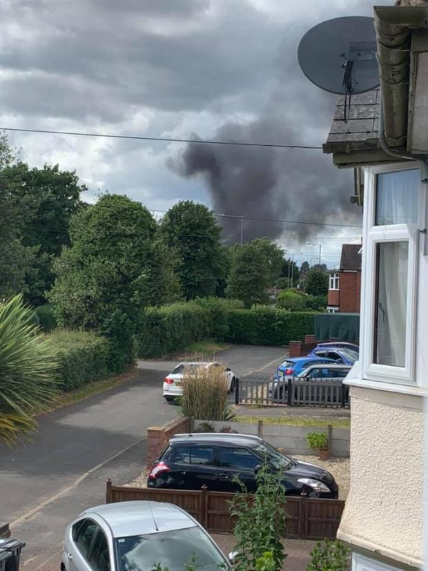 Bromsgrove Advertiser: Clouds of smoke in Stourport. Photo by Kerry Edwards