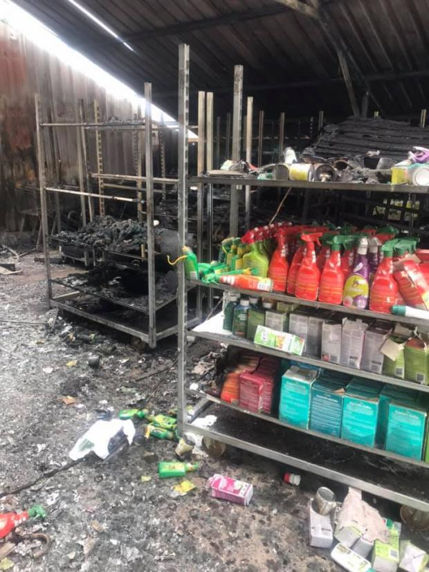 Bromsgrove Advertiser: Cook's Garden Centre said the stock loss was minimal