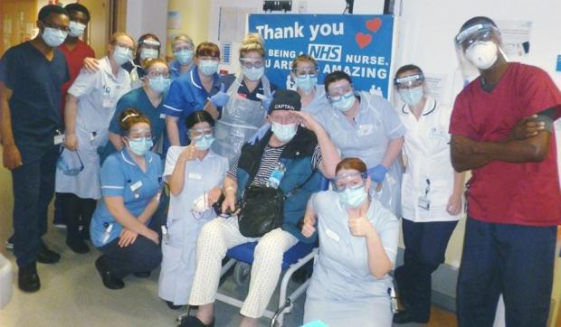 Bromsgrove Advertiser: Worcestershire's first confirmed coronavirus patient Roger Harris, aka Captain Crazy, leaves hospital