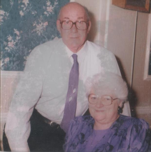 Bromsgrove Advertiser: Reginald and wife Florence