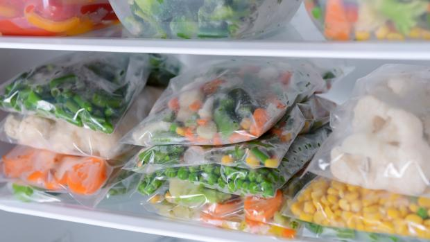 Bromsgrove Advertiser: Free up unused space by freezing foods flat in bags and stacking them on top of each other. Credit: Getty Images / serezniy
