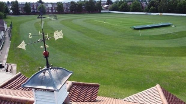 Bromsgrove Advertiser: The weather vane on top of the current pavilion built in 1925