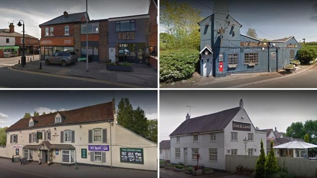 Some of the pubs and restaurants in the Bromsgrove area taking part in the Eat Out to Help Out scheme.